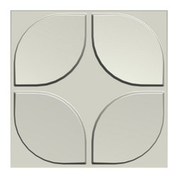 None - 3D Contemporary Wall Panels Flower Design (Set of 10) - Turn your dull wall into eye candy decoration! Various designs,these 3D Wall Panels can be integrated into any modern decors,and make common walls to Art-Pieces. Use your imagination to arrange the panels to create pattern and apply your colors!c