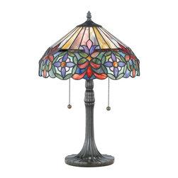 Quoizel Lighting - Quoizel TF6826VB Tiffany Vintage Bronze Table Lamp - 2, 60W A19 Medium