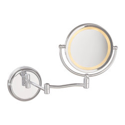 Dainolite - Dainolite MAGMIR-1W-SC Swing Arm Lighted Magnifier Mirror Sc Finish - Dainolite MAGMIR-1W-SC Swing Arm Lighted Magnifier Mirror SC Finish