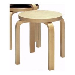 """Artek - Seating Kid's Stool - Features: -Four legs made from birch in natural lacquer.-Stackable.-Seating collection.-Collection: Seating.-Distressed: No.-Product Type: Stool.-Hardware Finish: Stainless steel.-Powder Coated Finish: No.-Gloss Finish: No.-Frame Material: Birch.-Hardware Material: Stainless steel screws.-Solid Wood Construction: No.-Number of Items Included: Chair only.-Non-Toxic: Yes.-Scratch Resistant: No.-Stain Resistant : No.-Mildew Resistant: Yes.-Rot Resistant: Yes.-Insect Resistant: Yes.-Arms Included: No.-Upholstered Seat: No.-Upholstered Back: No.-Rocker: No.-Swivel: No.-Glider: No.-Reclining: No.-Footrest Included: No.-Stackable: Yes.-Foldable: No.-Inflatable: No.-Legs Included: Yes -Number of Legs: 4.-Leg Material: Birch.-Protective Floor Glides: No..-Casters: No.-Cupholder: No.-Skirted: No.-Ottoman Included: No.-Adjustable Height: No.-Ergonomic Design: No.-Age Recommendation: Recommended from 3 years.-Outdoor Use: No.-Seating Capacity: 1.-Weight Capacity: 330 lbs.-Swatch Available: Yes.-Commercial Use: Yes.-Recycled Content: No.-Eco-Friendly: No.-Product Care: Wipe clean with a damp cloth (water is best)..-Convertible: No.Specifications: -FSC Certified: No.-CPSIA or CPSC Compliant: No.-CARB Compliant: No.-Green Guard Certified: No.Dimensions: -Overall Product Weight: 10.3 lbs.-Overall Height - Top to Bottom: 15"""".-Overall Width - Side to Side: 15"""".-Overall Depth - Front to Back: 15"""".-Seat Height: 15"""".-Seat Width - Side to Side: 15"""".-Seat Depth - Front to Back: 15"""".-Legs: -Leg Height: 13.8"""".-Leg Width: 1.13"""".-Leg Depth: 1.13""""..Assembly: -Assembly Required: Yes.-Tools Needed: Screw driver or drill.-Additional Parts Required: No.Warranty: -Product Warranty: Artek USA Inc. warrants its products to be free from defects in materials and workmanship for a period of 2 years from date of delivery.."""