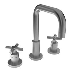 """Newport Brass - Newport Brass 1400 East Square Double Handle Widespread Lavatory Faucet - East Square Double Handle Low Lead Widespread Lavatory Faucet with Metal Cross HandlesThe East Square Collection from Newport Brass will be a stylish and modern looking addition to any household. With its smooth, simple lines, the East Square Collection is a great way to enhance the beauty of your home. Newport Brass lavatory faucets are available in several different styles with 25 unique finish options. Every Newport Brass bathroom faucet is CA/VT low lead compliant and WaterSense certified. Solid brass construction and ceramic disc cartridges ensure that your Newport Brass bath faucet will last the test of time. You will see why Newport Brass boasts Flawless Beauty from Faucet to Finish.Features:Double handle lavatory faucetADA Compliant Cross HandlesBrass Valve Bodies. Valve Included.Quarter-turn washerless ceramic disc valve cartridgesPop-up drain with tail pieceCA/VT Low lead compliantWaterSense CertifiedSolid brassMetal cross handlesReadyship Available Finishes - Finishes guaranteed to be in stock by Newport BrassSatin NickelFinish Features:Available in 25 beautiful finishesNew Industry Leading lacquer Finish ProcessIAPMO Certified and testedLong Life Finishes - 10 Year WarrantyDurable, color protected, scratch resistantGreen, low VOC, energy efficient finishing processSpecifications:Spout Reach: 6-9/16""""Spout Height: 6-1/8""""Overall Height: 9-1/2""""Handle Height: 3-1/16""""8"""" CentersLow Lead Compliant : YesWaterSense Certified : YesCenters : 8""""Material : Solid Brass1/2"""" valves"""
