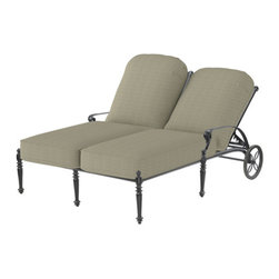 Outdoor Furniture - This double-recliner from Gensun's Grand Terrace collection is perfect for outdoor lounging with someone special. Visit us if you want this. | Northern VA | Lawn and Leisure