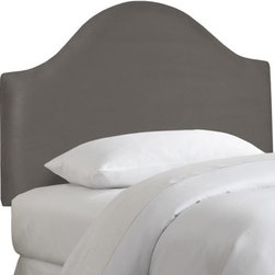 Home Decorators Collection - Custom Austin Upholstered Headboard - Our Custom Austin Upholstered Headboard features a softly arched silhouette for a traditional, fun feel. Upholstered in your choice of fabric, this kids bed headboard is easy to coordinate with your child's existing bedroom linens and other upholstered items. Solid pine frame with metal legs and polyester fill. Easily attaches to any standard bed frame with included hardware. Spot clean only. Hand assembled in the USA and delivered in 2-4 weeks.
