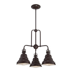 Quoizel - Quoizel EVE5103PN Eastvale Chandelier - The Eastvale series pairs a vintage industrial look with modern sensibility. Attention to fine details and a rich Palladian Bronze finish allow this distinctive fixture suit a variety of interior design styles.