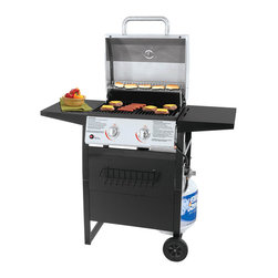 UniFlame - UniFlame GBC1405SP Outdoor Gas Barbecue Grill - -Cooking Area  414 Sq. in. (16 Burgers),300 sq. in. cooking surface (19 burgers), 114 sq. in. warming surface -24,000 BTUs Total, 2 Main Burners  12,000 BTUs each -Seamless Welded Stainless Steel Lid and Control Panel