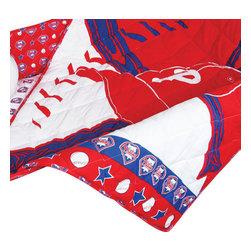 Store51 LLC - Philadelphia Phillies Crib Bedding Baseball Quilt Bumper Set - Features: