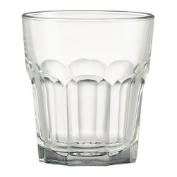 Gibraltar Double Old-Fashioned Glass - A Crate and Barrel classic, this all-purpose, stackable drinkware is a favorite with restaurants for its timeless styling and durability.