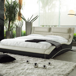 Matisse - Napoli Modern King Size Platform Bed - Napoli two-tone bed is an artistic expression in contemporary furniture design. This attractive and charming bed provides both comfort and relaxation.