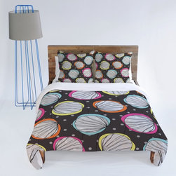 DENY Designs - DENY Designs Rachael Taylor Scribble Shells Duvet Cover - 13254-DUWKIN - Shop for Duvets from Hayneedle.com! Whimsical shells on multicolored backgrounds float on a bubble pattern on the DENY Designs Rachael Taylor Scribble Shells Duvet Cover. This fun casual duvet cover is made from durable microfiber that's machine washable and has a snap closure for easy removal.About DENY DesignsDenver Colorado based DENY Designs is a modern home furnishings company that believes in doing things differently. DENY encourages customers to make a personal statement with personal images or by selecting from the extensive gallery. The coolest part is that each purchase gives the super talented artists part of the proceeds. That allows DENY to support art communities all over the world while also spreading the creative love! Each DENY piece is custom created as it's ordered instead of being held in a warehouse. A dye printing process is used to ensure colorfastness and durability that make these true heirloom pieces. From custom furniture pieces to textiles everything made is unique and distinctively DENY.