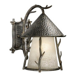 Vaxcel Lighting - Vaxcel Lighting WD-OWD110 Woodland 3 Light Outdoor Wall Sconce - Features: