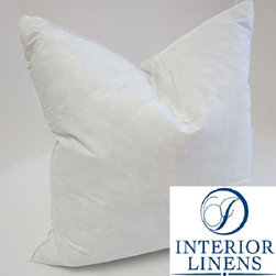 "32"" x 32"", 92oz. 25/75 White Goose Down Pillow Insert - 32"" x 32"", 92oz. 25/75 White Goose Down Pillow Insert"