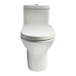EAGO - EAGO TB353 White Modern One Piece Dual Ultra Low Flush Eco-Friendly Toilet - We are very excited to offer you this top of the line brand of eco-friendly low consumption modern smart toilets. Join the latest fashion trend with EAGO's innovative line of green products.