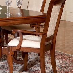 Liberty Furniture - Louis Philippe Arm Chair in Cherry Finish - Upholstered seat. Warranty: One year. Made from hardwoods, poplar solids and cherry veneers. Made in Malaysia. 25 in. W x 18 in. D x 41 in. H (22 lbs.)