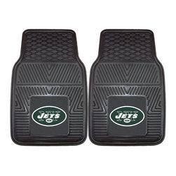 Fanmats - Fanmats New York Jets 2-piece Vinyl Car Mats - Show off your team spirit while protecting your ride with these vinyl car mats. The universal mats are designed to fit a large variety of cars and trucks. The New York Jets logo completes each mat so you can show the love for your favorite team.
