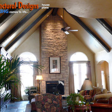 Traditional Living Room by Architectural Designs