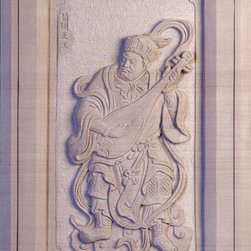 Dhrtarastra - King of the east and God of music. His symbolic weapon is the pipa (stringed instrument). He is harmonious and compassionate and protects all beings. Uses his music to convert others to Buddhism. Associated with the color white