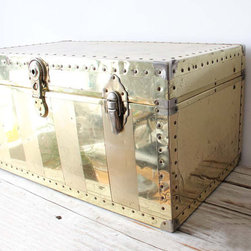 Large Brass Trunk by Gallivanting Girls - Vintage things are always the coolest. Use this as a coffee table, and your living room will be sufficiently blinged out.