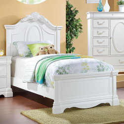"Acme Furniture - Twin Bed in White - Twin Bed in White; Finish: White; Dimensions: 59""H"