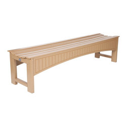 "Eagle One - Eagle One 5 Ft Heritage Mall Backless Bench - ""Classic Heritage style bench in a backless design. Built for high traffic commercial use with a curved seat for maximum comfort and style; requires very low maintenance will not chip, rot, split or need painting.Dimensions (W x L x D): 62"""" x 19"""" x 19"""" (133 LBS)Material: HDPE Recycled Plastic LumberMade in the USAColor listed is for seat color and not the actual material of the wood"""