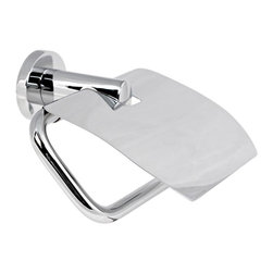 Gedy - Chrome Toilet Paper Holder With Cover - Simple brass toilet roll holder/toilet paper holder with cover.