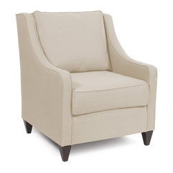 Howard Elliott - Sterling Side Car Chair - This classic upholstered arm chair is a smart addition to any seating area in the home. Whether a formal living room or a relaxed family space, this side car chair is hand crafted with extra plush cushions and includes removable covers for easy maintenance. Sterling sand fabric provides a neutral backdrop for the classic styling of this attractive chair.