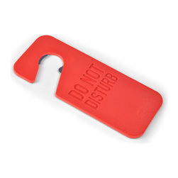 Fred & Friends - I DRINK ALONE Bottle Opener - Fill up your Solo cup, it's time to party. Pop open a bottle, then hang the opener on your door and celebrate the magic of you. I Drink Alone is a classic 'Do Not Disturb' sign with embedded steel teeth. It's packaged in a tamper-proof, peggable recyclable PET-G clamshell.