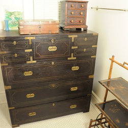 Hollywood Sign Estate Sale - Antique and Rare Asian Tansu Chest. Photo by Melissa Arnold.