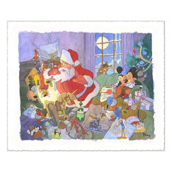 Disney Fine Art - Disney Fine Art Home For Christmas by Toby Bluth - Home-For-Christmas by Disney Fine Art  -  Limited To 50 Pieces World Wide  -  Size: 11 x 14 Inches  -  Giclee on Paper  -  Hand Signed By The Artist: Toby Bluth  -  Produced by Collector's Editions  -  Fully Authorized Disney Fine Art Dealer  -  Ships Rolled in a Tube