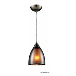 Elk Lighting 10053/1 1 Light Mini Pendant Reflections Collection -