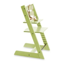 Stokke - STOKKE Tripp Trapp Highchair in Green - Dare to resist the traditional, molded plastic and vinyl high chair without sacrificing safety. The Stokke Tripp Trapp's innovative design brings baby closer to the table to interact more directly with the family.