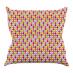 """Kess InHouse - Julia Grifol """"Happy Circles"""" Throw Pillow (20"""" x 20"""") - Rest among the art you love. Transform your hang out room into a hip gallery, that's also comfortable. With this pillow you can create an environment that reflects your unique style. It's amazing what a throw pillow can do to complete a room. (Kess InHouse is not responsible for pillow fighting that may occur as the result of creative stimulation)."""
