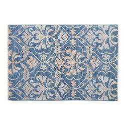 1800-Get-A-Rug - Denim Blue Ikat Uzbek Design Hand Knotted Rug Sh11790 - About Wool Pile