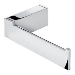 Geesa - Chrome Contemporary Toilet Roll Holder - Contemporary stye toilet roll holder. Available in Chrome finish. Toilet roll holder for a trendy personal bath. Luxury toilet paper holder. High-Quality brass, finished in chrome. Made by Geesa in Netherlands.
