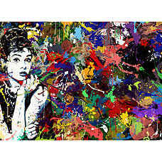 Artwork Maxwell Dickson 'Audrey Hepburn' Pop Art Canvas Print