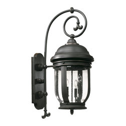 Quorum International - Quorum International 7182-4-95 Summit Old World Outdoor Wall Sconce - Quorum International 7182-4-95 Summit Black Outdoor Wall Sconce