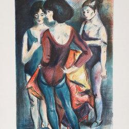 Jan De Ruth, Dressing Room, Lithograph - Artist:  Jan De Ruth, Czech (1922 - 1991)