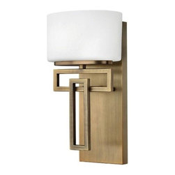 Hinkley - Hinkley Lanza 1-Light Brushed Bronze Bathroom Sconce - 5100BR - This 1-Light Bathroom Sconce is part of the Lanza Collection and has a Brushed Bronze Finish. It is Damp Rated.