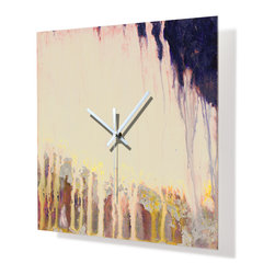 HangTime Designs - HangTime Designs, The Cliff Clock - HangTime Designs presents the art of Dlynn Roll on this unique wall clock.  Each image is beautifully printed reverse on the backside of acrylic.  An attached frame allows for the clock to float off the wall.  Quartz movement is operated by one AA battery.  Made in the USA.