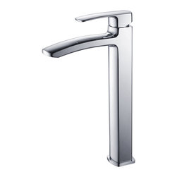 Fresca - Fresca Fiora Single Hole Vessel Mount Bathroom Vanity Faucet - Chrome - This single hole vessel faucet is made from heavy duty brass with a chrome finish.  Features ceramic mixing valve for longevity and watertight functionality.