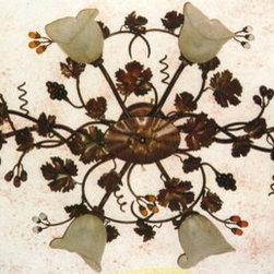 Artistica - Hand Made in Italy - Alba Lamp: Ceiling Lamp - /Scavo Murano - Alba Lamp Collection.