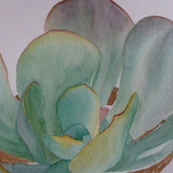 Saving Water, Original Watercolor - There is so much to love about watercolor.  All of the shades and no color at all, with endless possibilities, even with only one image, we could explore it in infinite ways.