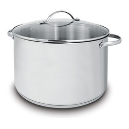 Cuisinox - Cuisinox Deluxe 11 qt Covered Stock Pot - Cuisinox Deluxe receives high scores for performance and value. Meticulously designed and made of high quality 18/10 stainless steel and tempered glass lids. This collection is extensive allowing any chef to produce consistently outstanding results. This 11 qt. stockpot has a glass lid, graduated interior markings, and comfortable stay cool handles.
