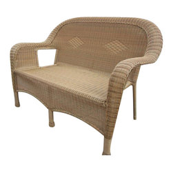 Oakland Living - Oakland Living Resin Wicker Loveseat in Natural - Oakland Living - Outdoor Sofas - 90027LHN - About This Product: