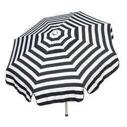 DestinationGear - Italian 6 ft Umbrella Acrylic Stripes - Black and White - Taking in the sun on the Amalfi coast is to some a dream come true.  In the case of the DestinationGear Italian Bistro style umbrellas, you'll feel like you are in Italy when you open up this 6 foot diameter shade provider.  Stylish, high-quality and designed for the patio, beach or camping outing.