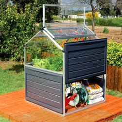 Palram - Palram Plant Inn Multicolor - HG3320 - Shop for Greenhouses from Hayneedle.com! Make gardening easier and protect what you grow with the Palram Plant Inn. Framed with a corrosion-resistant aluminum frame with bolt-together connections this little greenhouse assembles easily and quickly. It features SnapGlas polycarbonate roofing panels that are virtually unbreakable and offer crystal clear views. These panels will protect against cold and hail. A hinged frame and latch offers four access and ventilation options two of which open completely. There's even a storage space underneath to keep tools and soil handy.