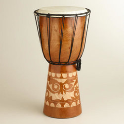 Mahogany Indonesian Drum -