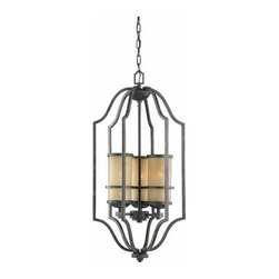 Sea Gull Lighting - 3-Light Hall / Foyer Flemish Bronze - 51521-845 Sea Gull Lighting Roslyn 3-Light Hall / Foyer with a Flemish Bronze Finish