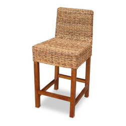 """Jeffan - Lusida Barstool (Set of 2) - Beautifully crafted, the Lusida barstool exudes natural elegance. The legs are crafted from mahogany wood, and the body consists of woven rattan. Features: -Lusida collection. -Crafted mahogany wood legs. -Body consists of woven rattan. -Without cushion. Dimensions: -26"""": 38"""" H x 18"""" W x 19.6"""" D, 25 lbs. -30"""": 46"""" H x 18"""" W x 19.5"""" D, 25 lbs."""