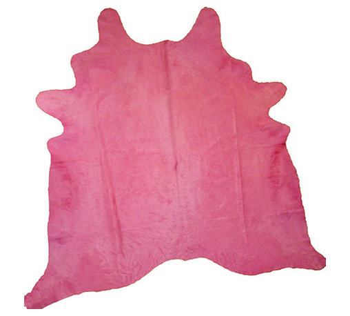 Decohides - Dyed Pink - Your fabulous furniture already conveys how superbly cool you are and now you're displaying this dyed cowhide rug. Wait until they hear it's made from the finest Brazilian leather. Can you get any hipper?