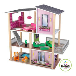 KidKraft - Modern Living Dollhouse by Kidkraft - Once dolls step foot in our Modern Living Dollhouse, they'll never want to leave! Each room is a different color and has its own custom-designed style, giving the house a rainbow-like feel that young girls are sure to love.
